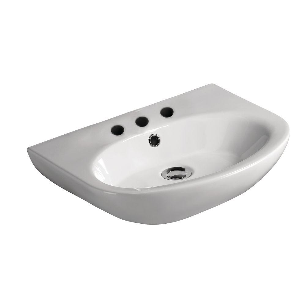 Infinity Wall-Hung Bathroom Sink in White