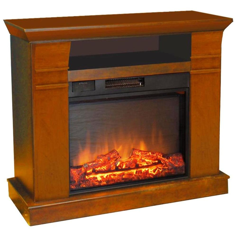 Estate Design Kimball 38 in. Media Console Electric Fireplace in Walnut-DISCONTINUED