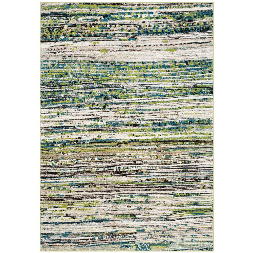 Porcello Cream/Green 6 ft. 7 in. x 9 ft. Area Rug