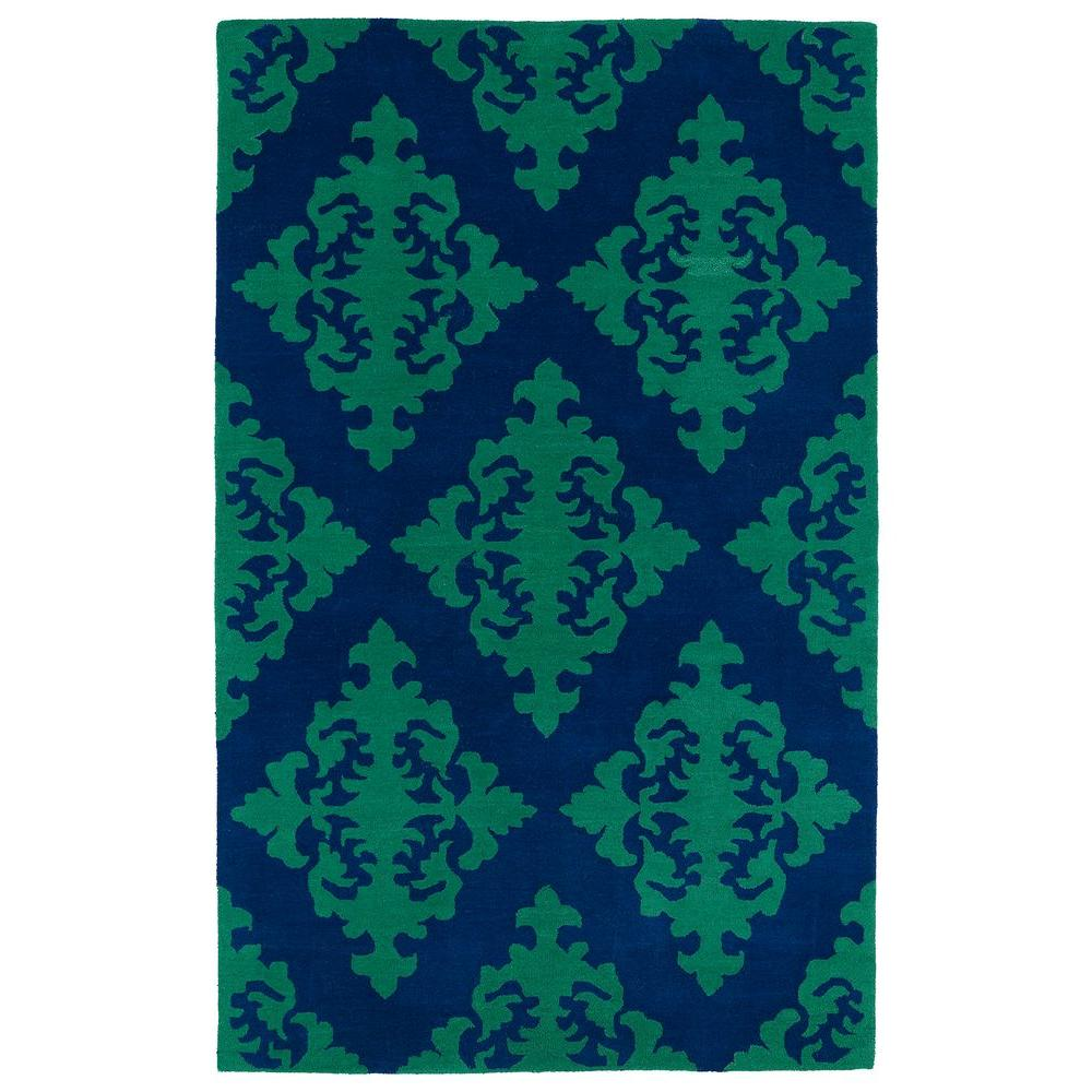 Evolution Navy 3 ft. x 5 ft. Area Rug