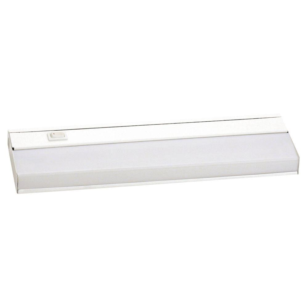 Yosemite Home Decor Mabel 1-Light White Under Cabinet Light with Electronic Ballast