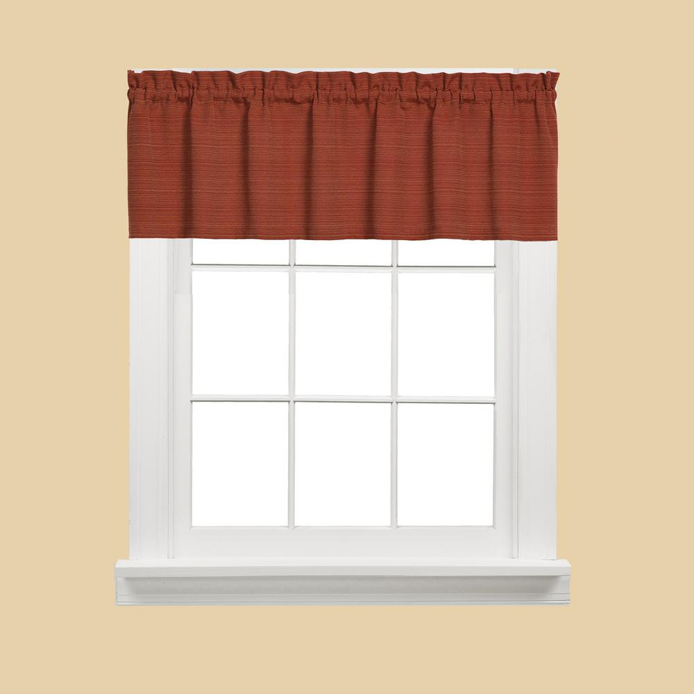 Austin 13 in. L Polyester/Cotton Valance in Fire