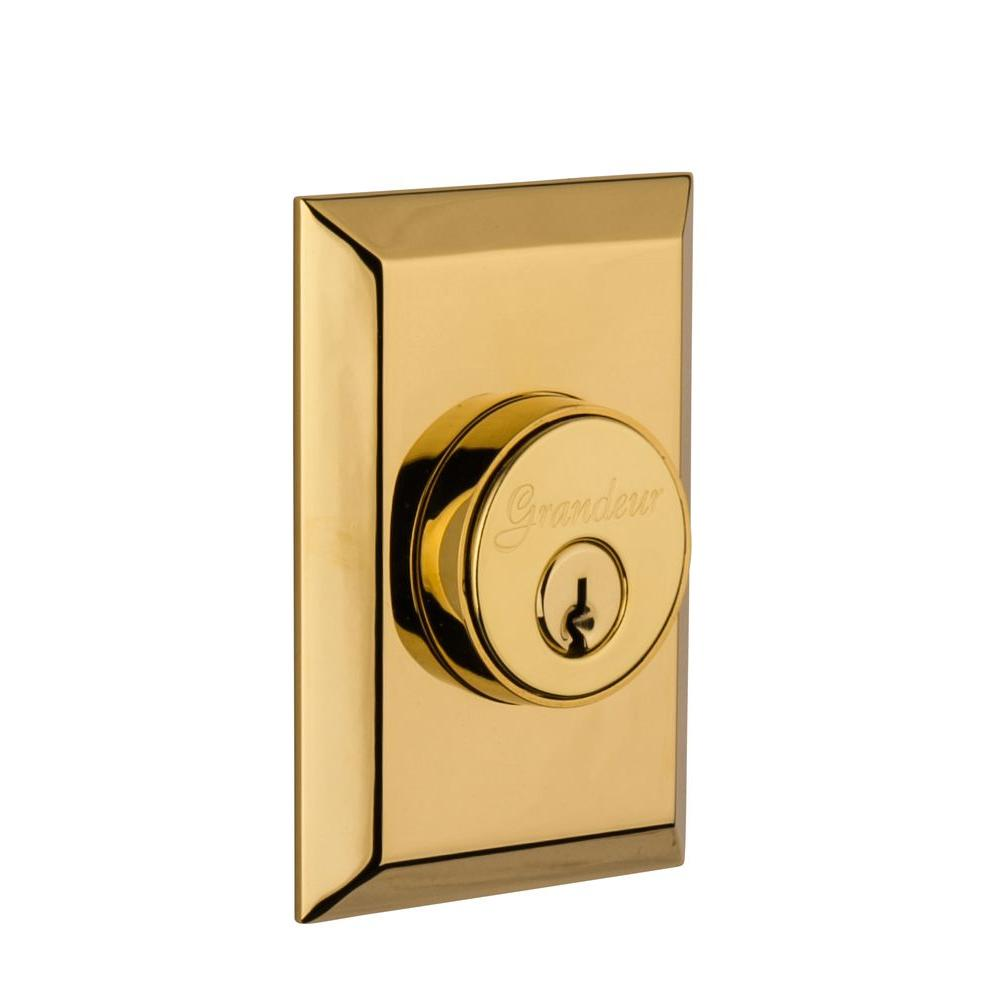 Fifth Avenue Lifetime Brass Double Cylinder Deadbolt - Keyed Differently