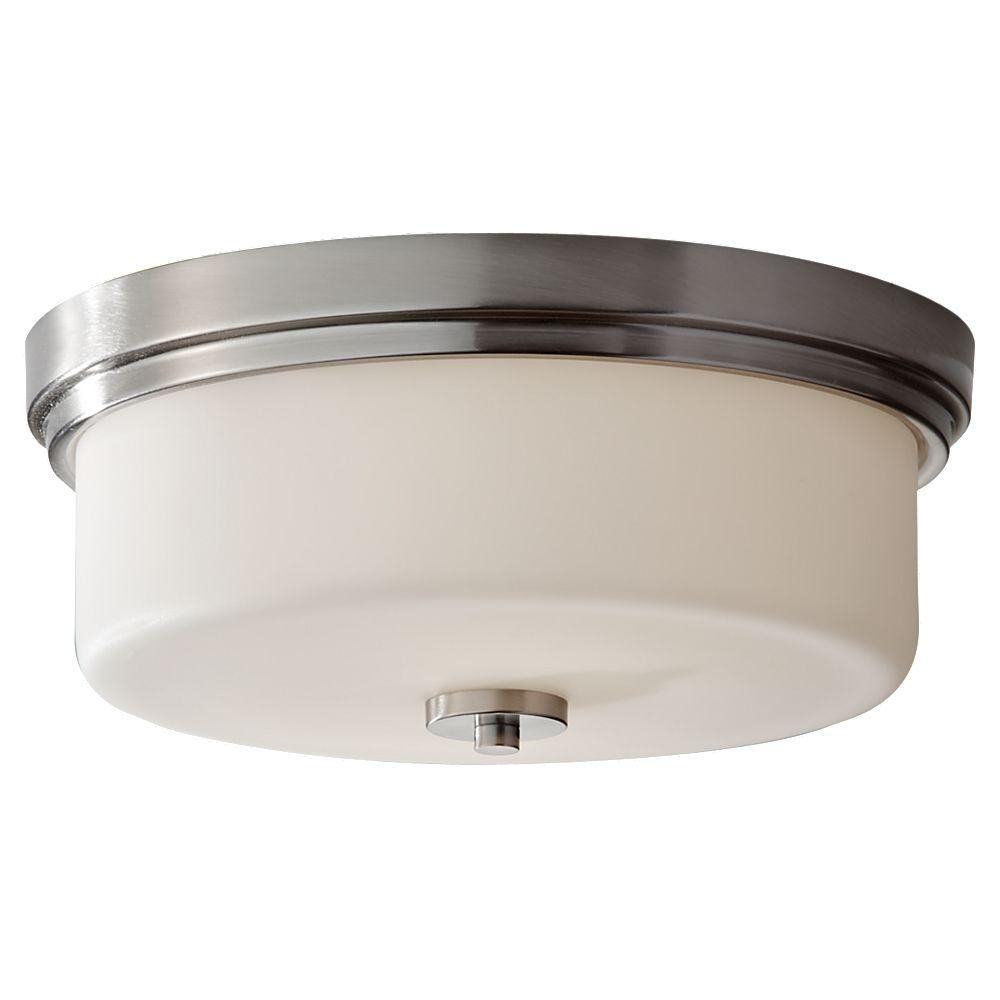 Feiss Kincaid 2-Light Brushed Steel Indoor Flushmount-FM370BS - The Home Depot