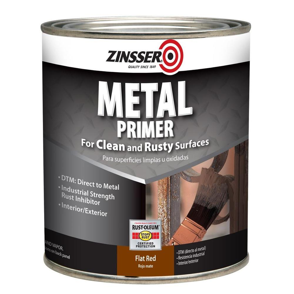 Zinsser 1 qt interior exterior metal primer case of 2 275001 the home depot for Best exterior paint and primer in one