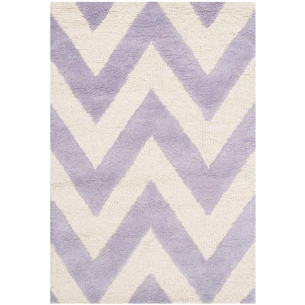 Cambridge Lavender/Ivory 2 ft. x 3 ft. Area Rug