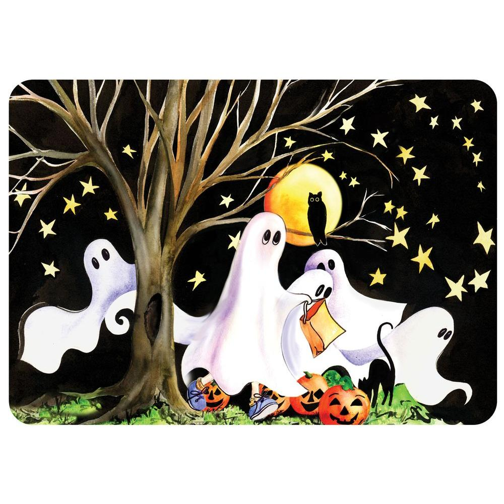 Bungalow Flooring Halloween Night 22 in. x 31 in. Polyester Surface Mat