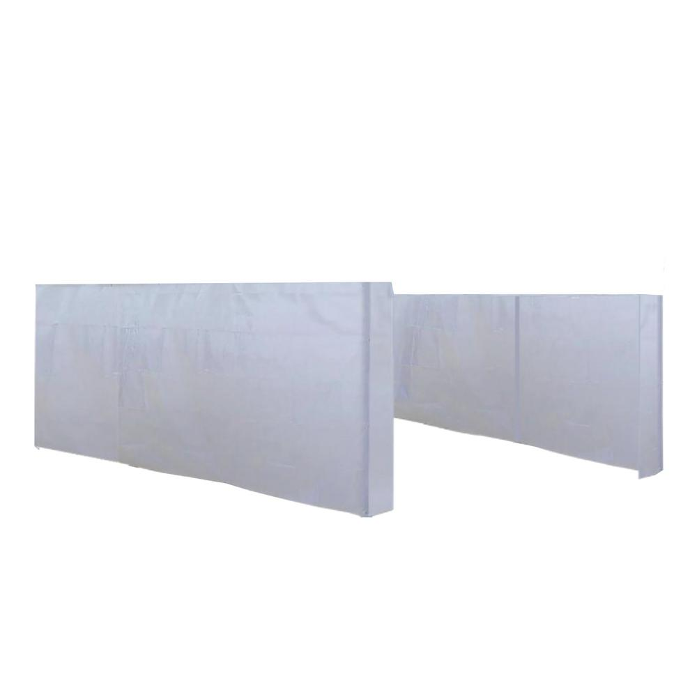 Moto Shade 20 ft. x 10 ft. 6-Leg Vehicle Canopy in White for Accessory Wall Set