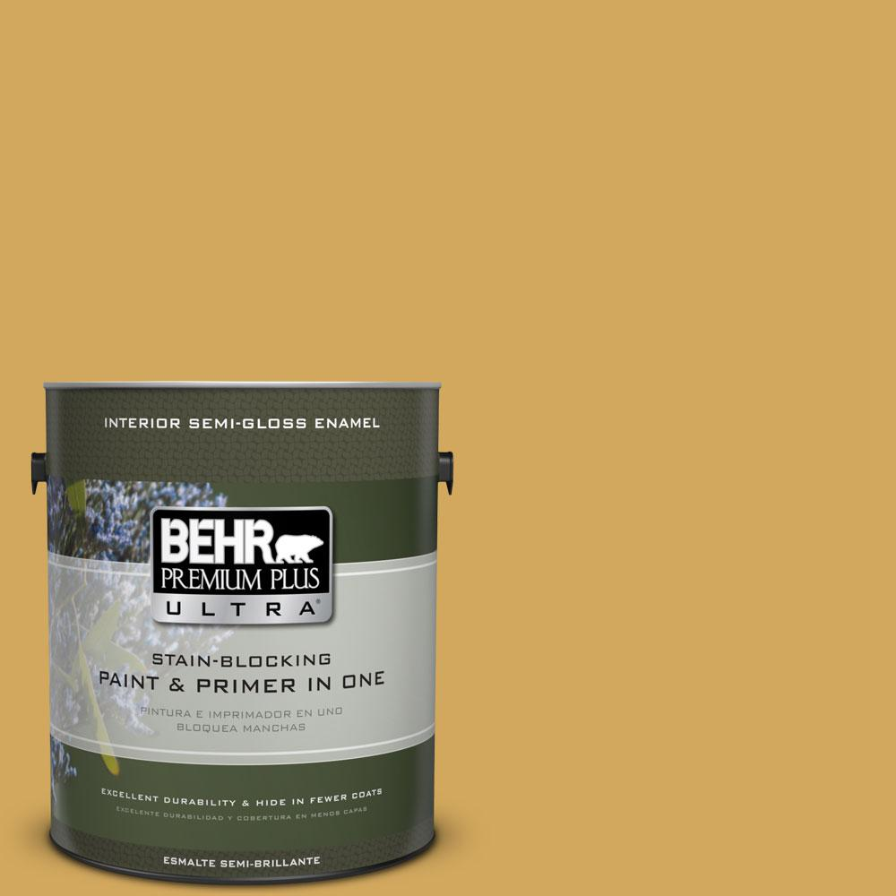 1-gal. #350D-5 French Pale Gold Semi-Gloss Enamel Interior Paint