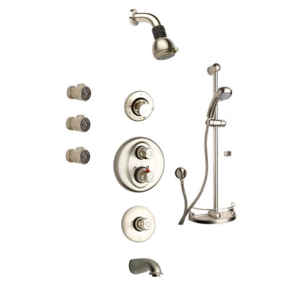 LaToscana Water Harmony Shower System 8 in Brushed Nickel