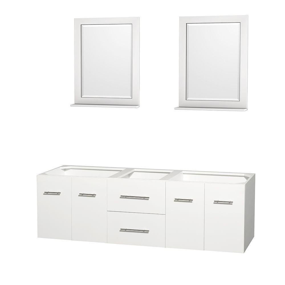 Wyndham collection centra 71 in double vanity cabinet for 71 inch double sink bathroom vanity