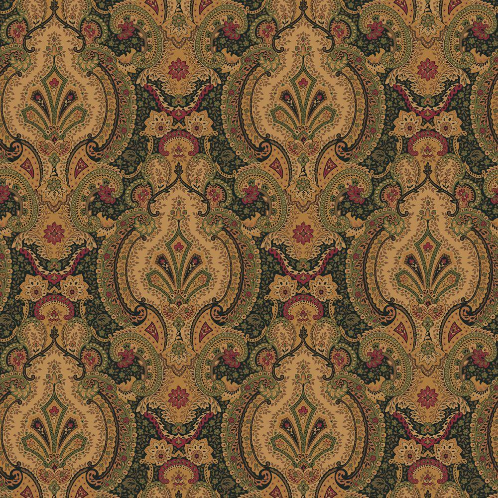 The Wallpaper Company 8 in. x 10 in. Antique Noir Europa Wallpaper Sample