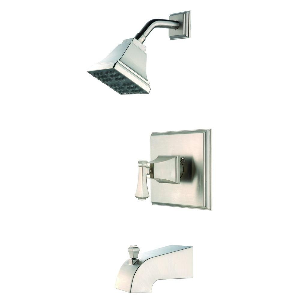 Pegasus Exhibit Single-Handle 1-Spray Tub and Shower Faucet in Brushed Nickel