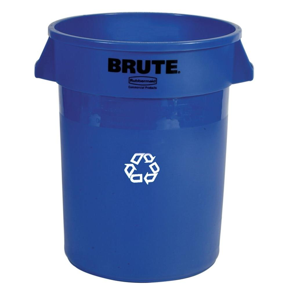 20 Gal. Blue Recycling Container Without Lid