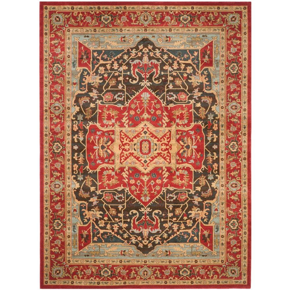 Mahal Red 9 ft. x 12 ft. Area Rug