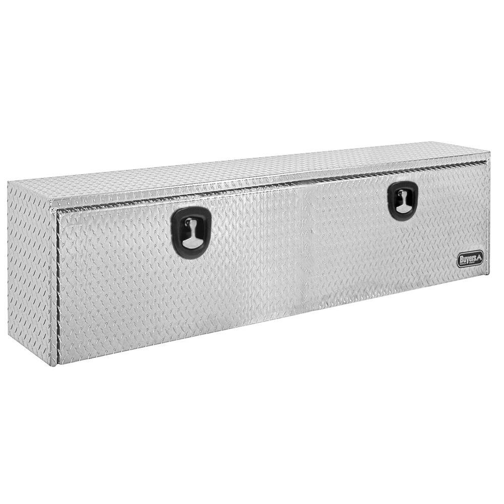 36 in. Aluminum Recessed Door Underbody Tool Box with T-Handle Latch