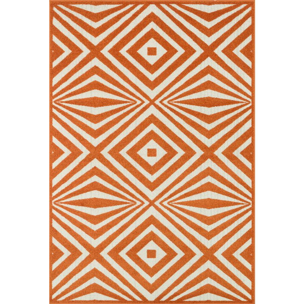 Loloi Rugs Catalina Lifestyle Collection Orange/Ivory 2 ft. 3 in. x 3 ft. 9 in. Area Rug