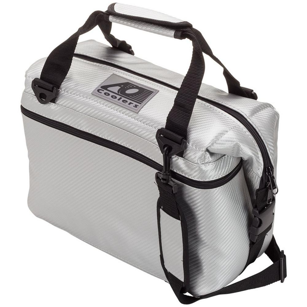 12 Qt. Soft Carbon Cooler with Shoulder Strap and Wide Outside