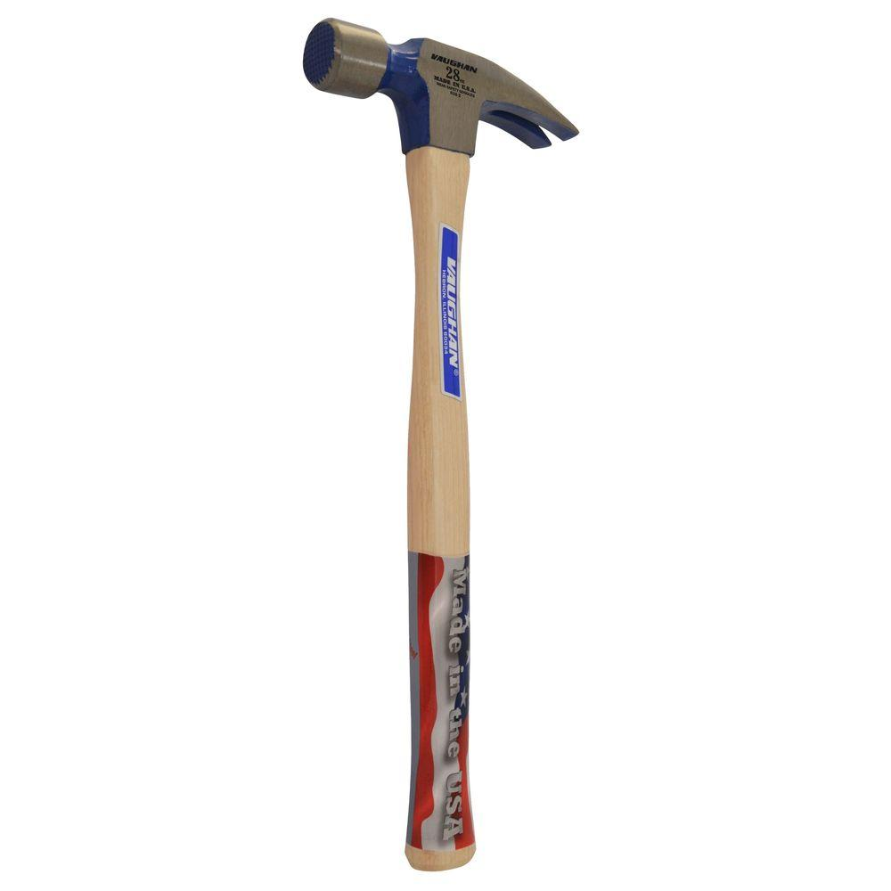 Vaughan 28 oz. Milled Face Framing Hammer, 18 in. hickory handle-606M