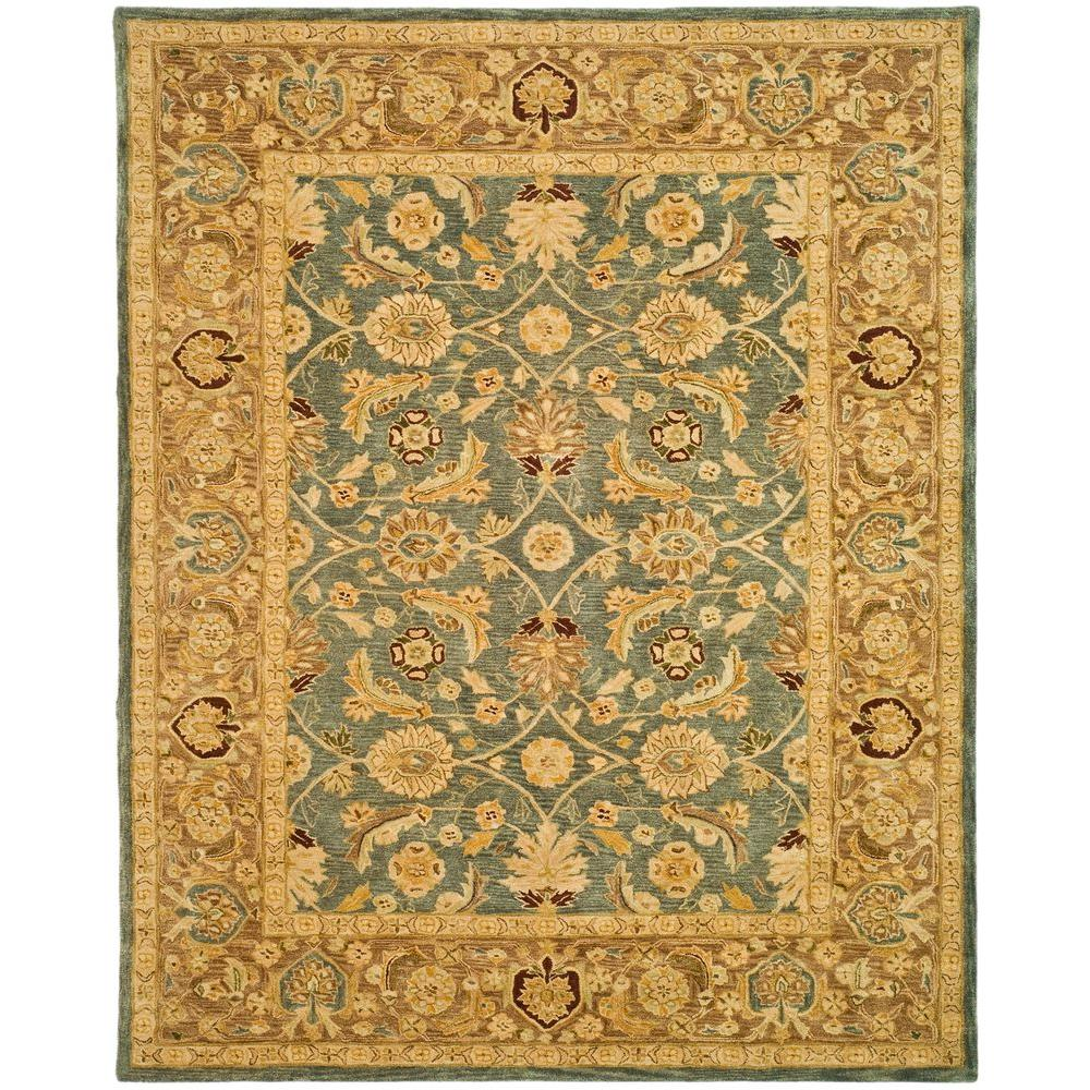 Anatolia Blue/Brown 8 ft. x 10 ft. Area Rug