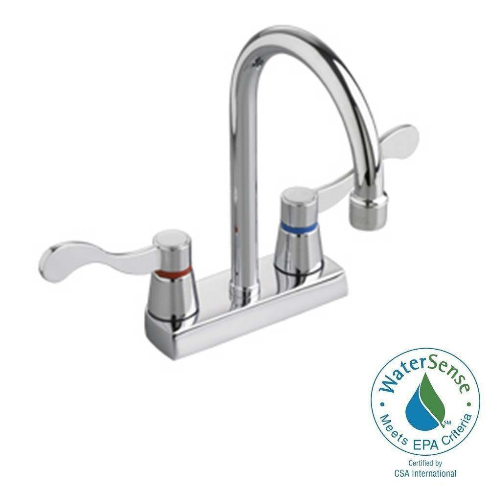 Heritage 4 in. Centerset 2-Handle Bathroom Faucet in Polished Chrome