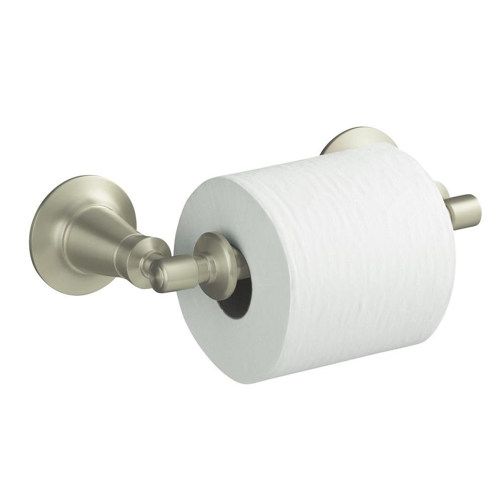 Archer Wall-Mount Double Post Toilet Paper Holder in Vibrant Brushed Nickel