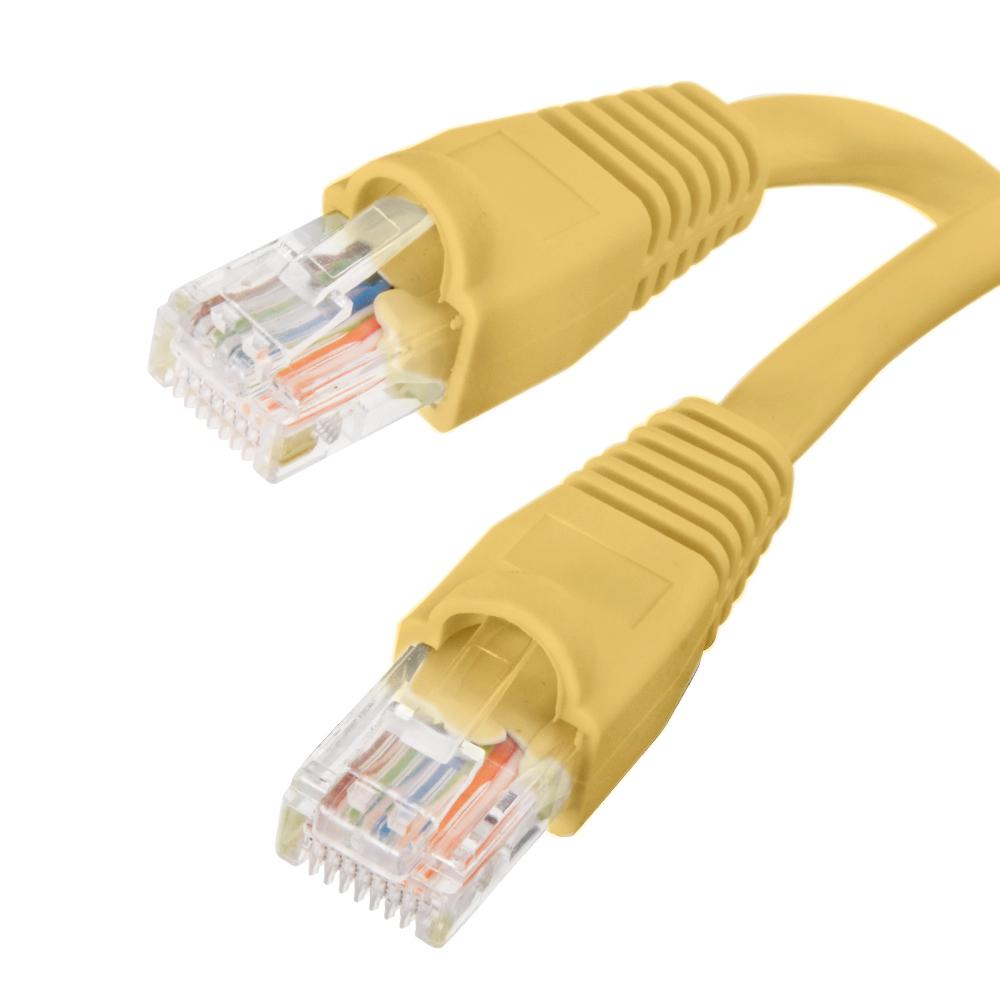 15 ft. CAT5e UTP Patch Cord, Yellow