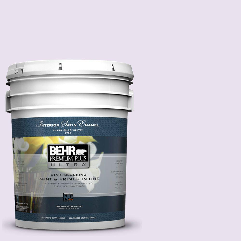 BEHR Premium Plus Ultra 5-gal. #660A-1 Muted Melody Satin Enamel Interior Paint