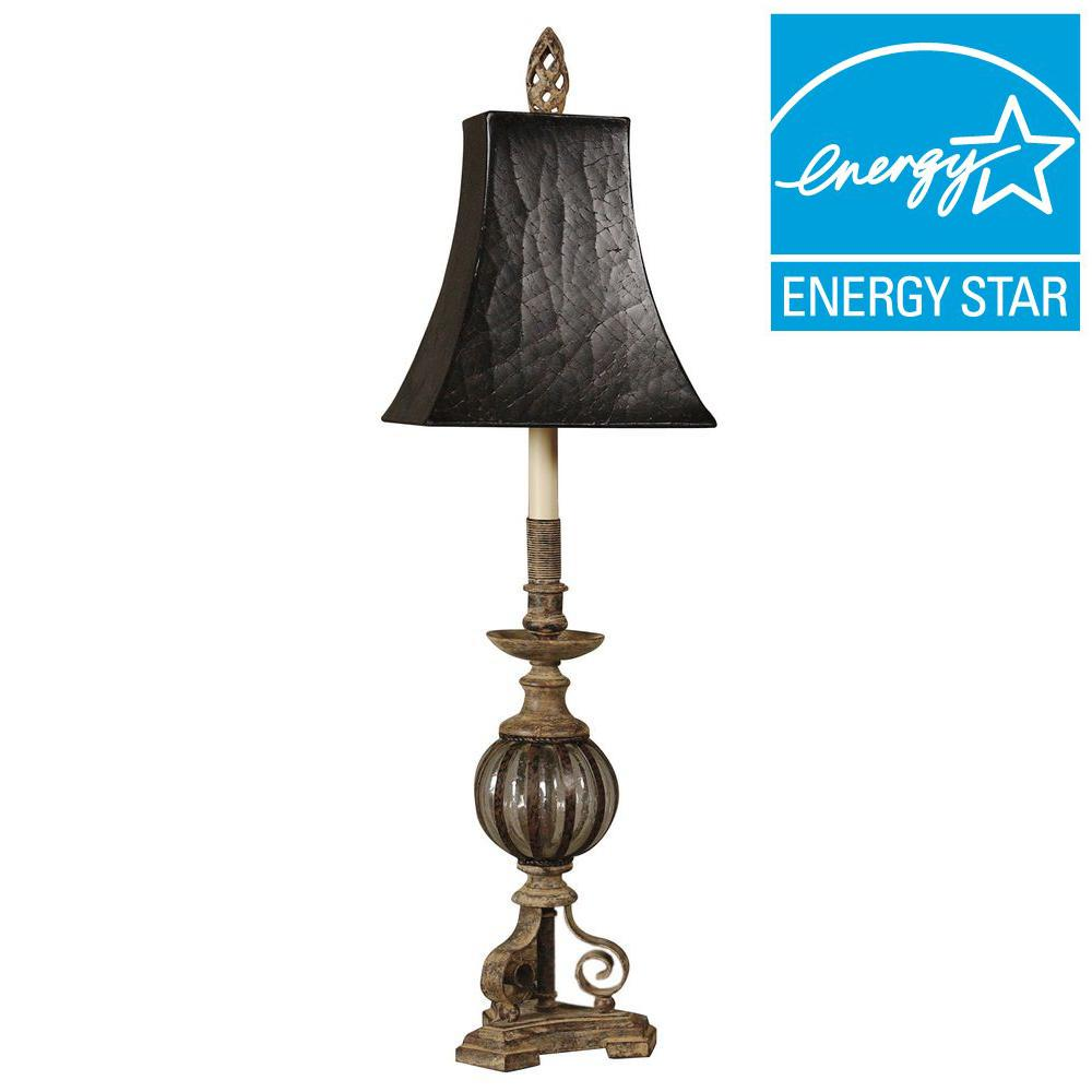 Global Direct 35 in. Antique Bronze Buffet Lamp