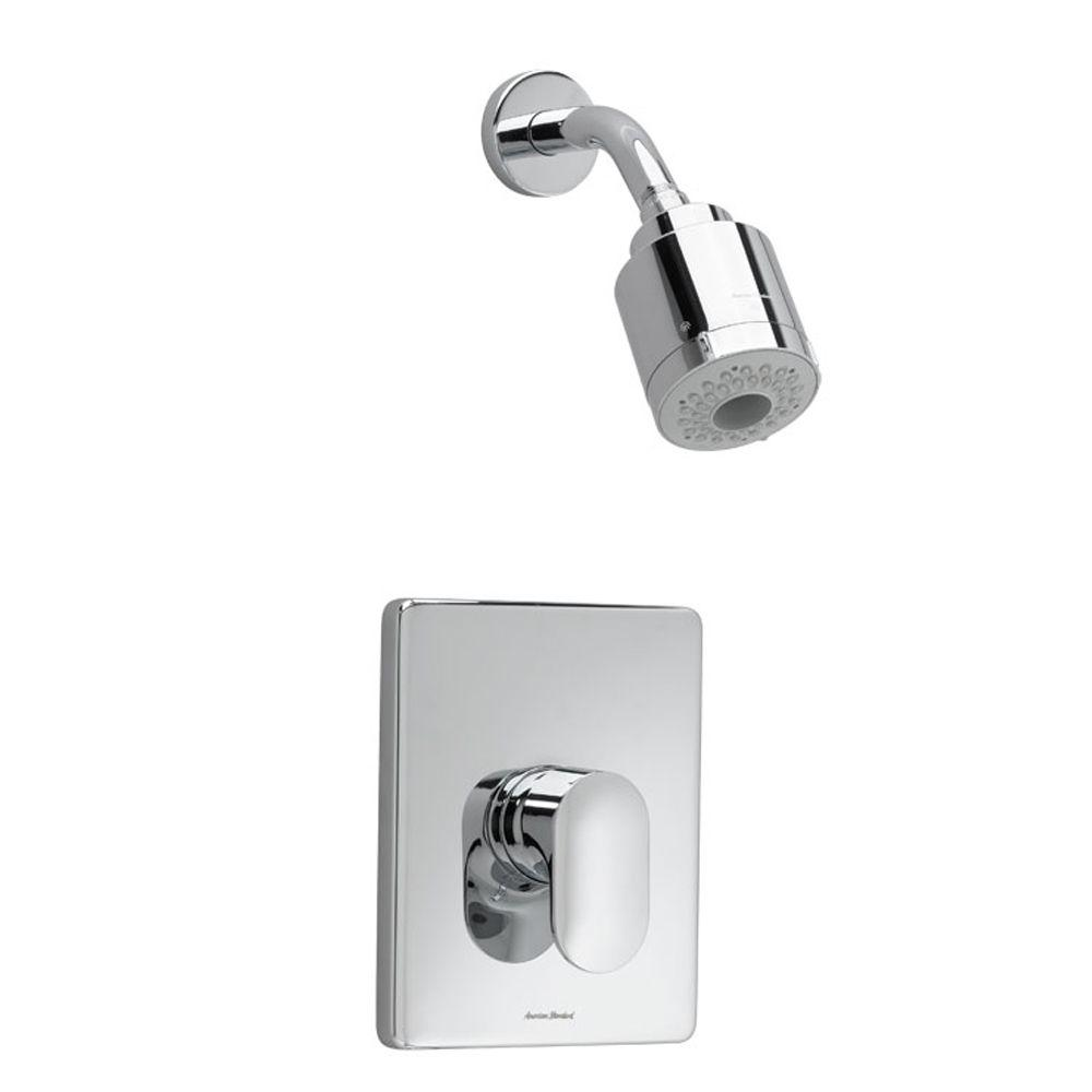 Moments FloWise Pressure Balance 1-Handle Shower Faucet Trim Kit in Polished