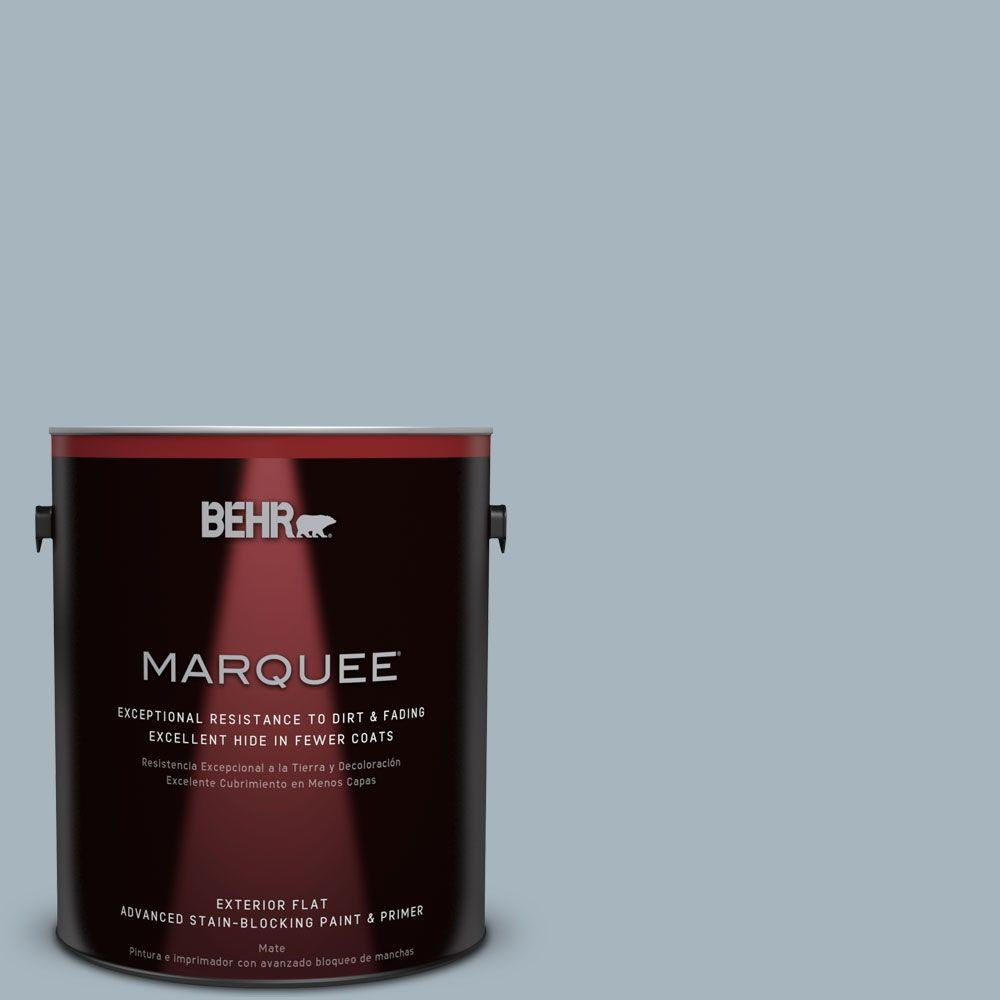 BEHR MARQUEE 1-gal. #N480-3 Shadow Blue Flat Exterior Paint-445001 - The