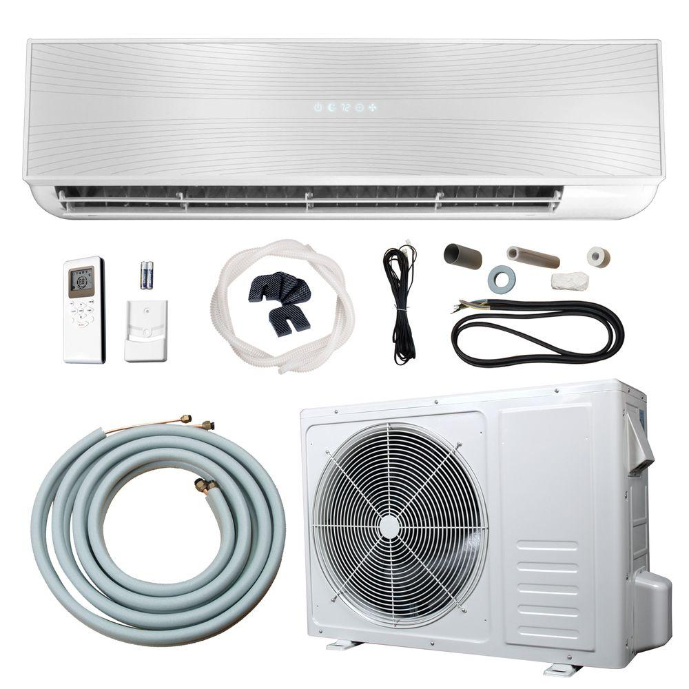 18,000 BTU 1.5 Ton Ductless Mini Split Air Conditioner and Heat Pump - 220V/60Hz, White