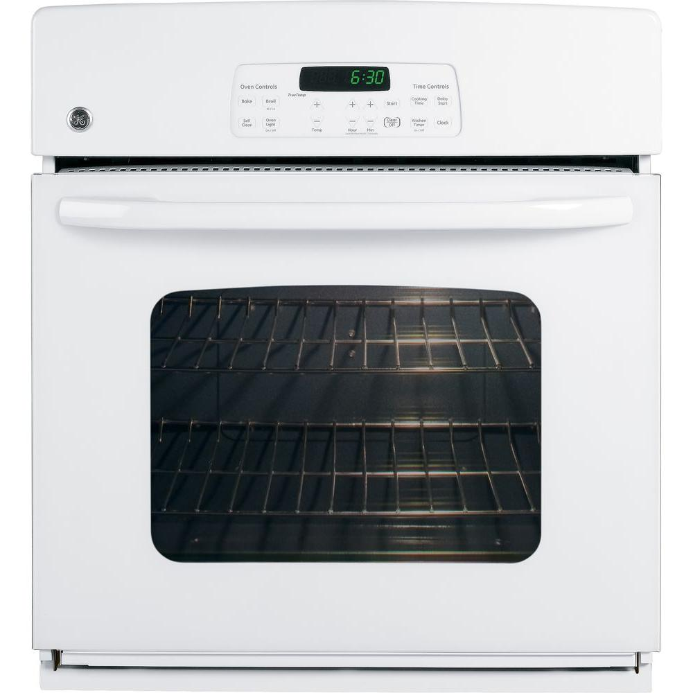 GE 27 in. Electric Single Wall Oven in White-JKP30DPWW - The