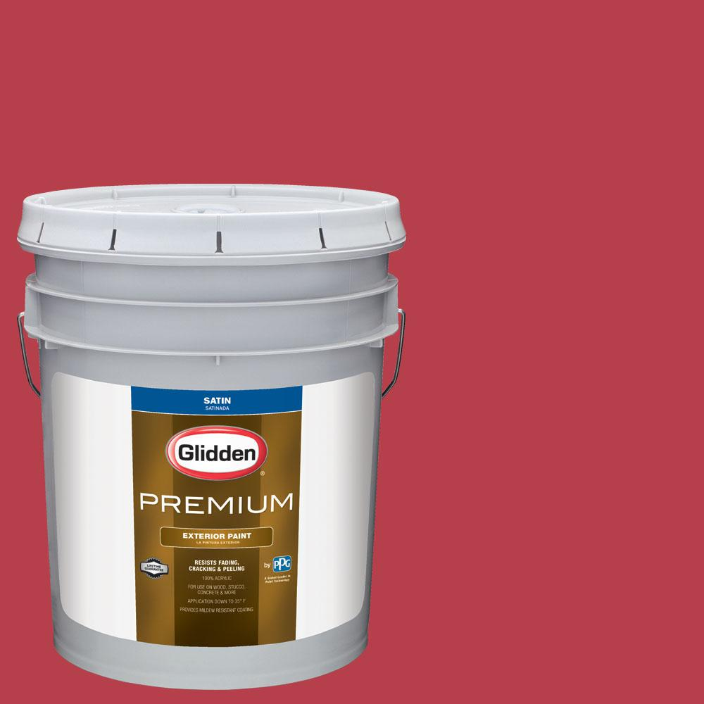 5 gal. #BB-184A Philadelphia Phillies Red Satin Exterior Paint