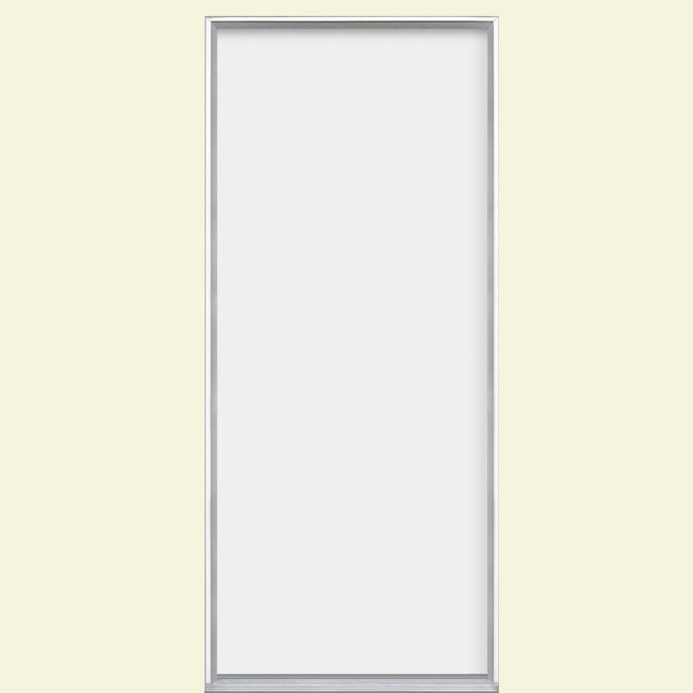 36 in. x 80 in. Utility Flush Primed Steel Prehung Front