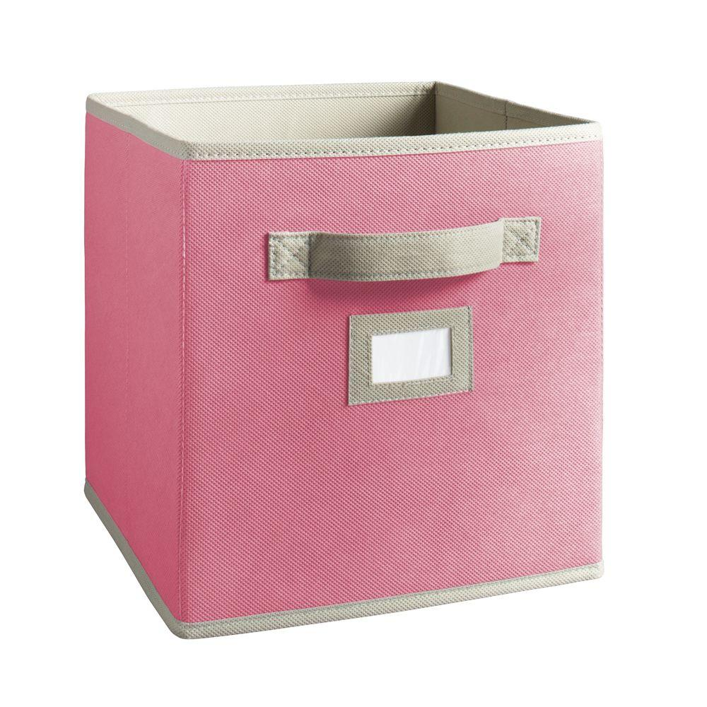 Martha Stewart Living 10-1/2 in. x 11 in. Pink Fabric Drawer