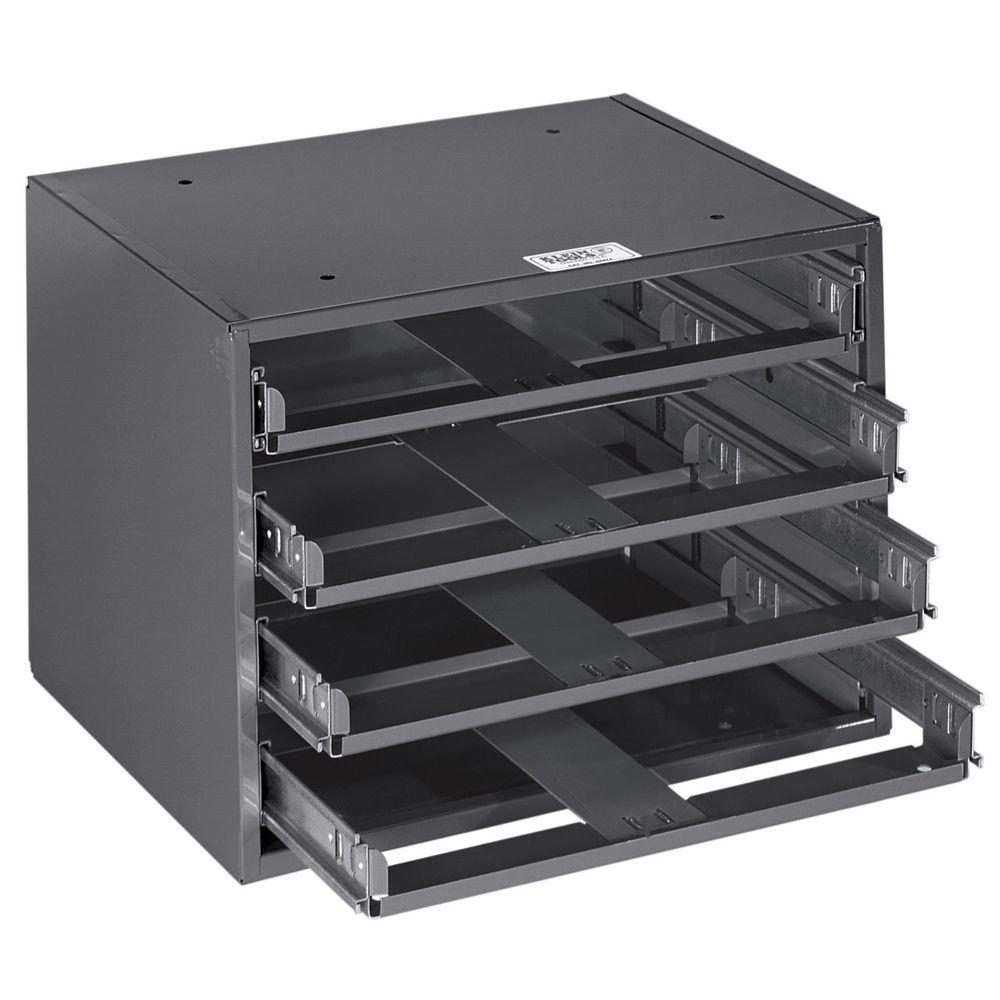 Klein Tools Mid-Size 15-1/4 in. 4-Box Slide Rack-54474 - The Home