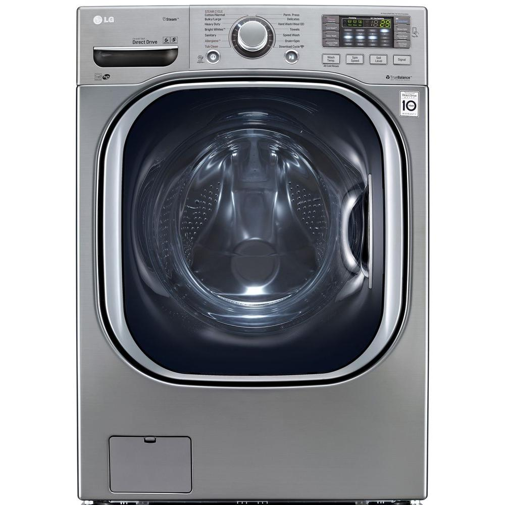 LG Electronics 4.5 DOE cu. ft. High-Efficiency Front Load Washer with TurboWash in Graphite Steel, ENERGY STAR