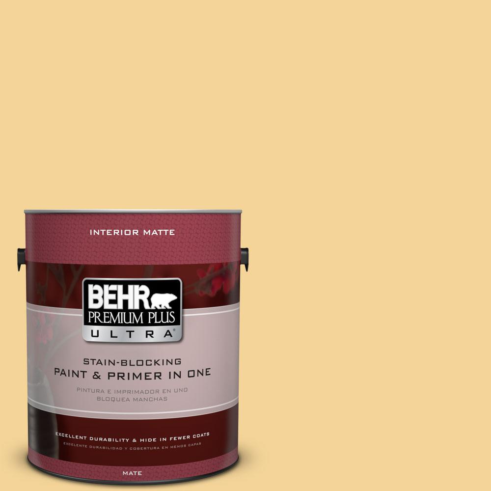BEHR Premium Plus Ultra 1 gal. #350C-3 Applesauce Flat/Matte Interior Paint