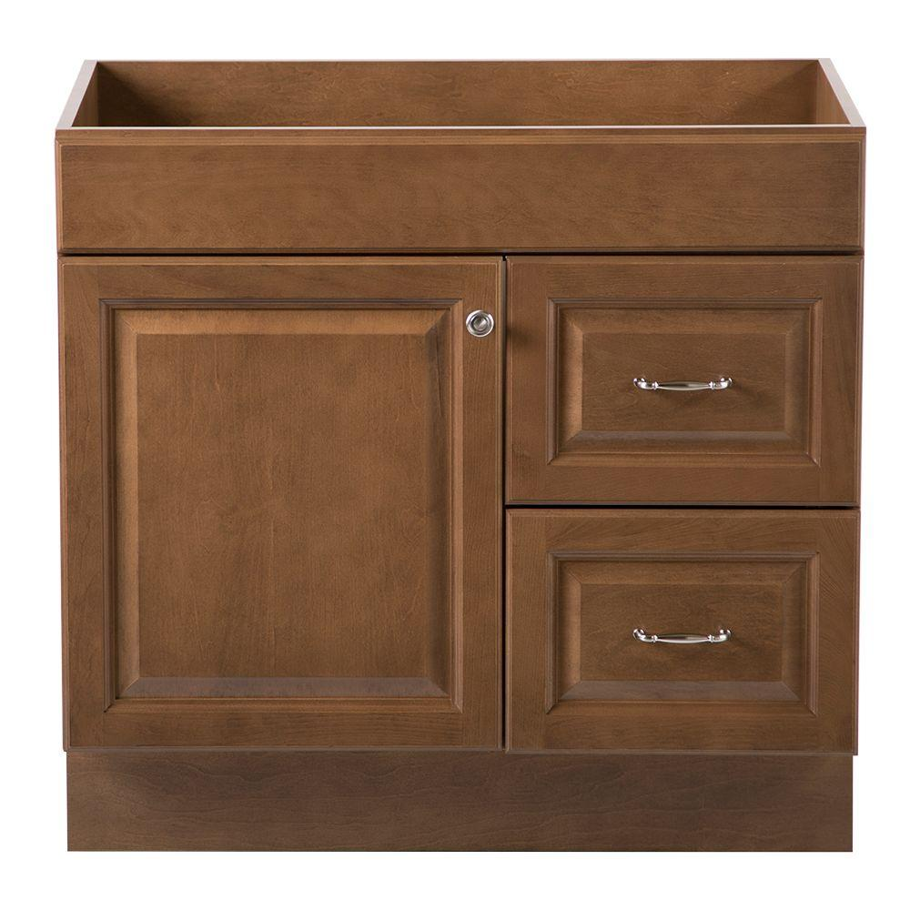 Home decorators collection dowsby 36 in vanity cabinet only in toffee yksd3621 tf the home depot Home decorators collection 36 vanity