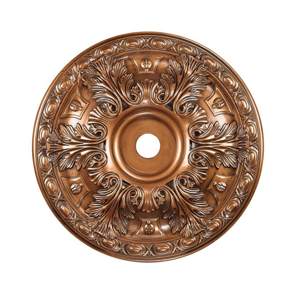 Titan Lighting 36 in. Antique Bronze Ceiling Medallion-TN-13253 - The Home