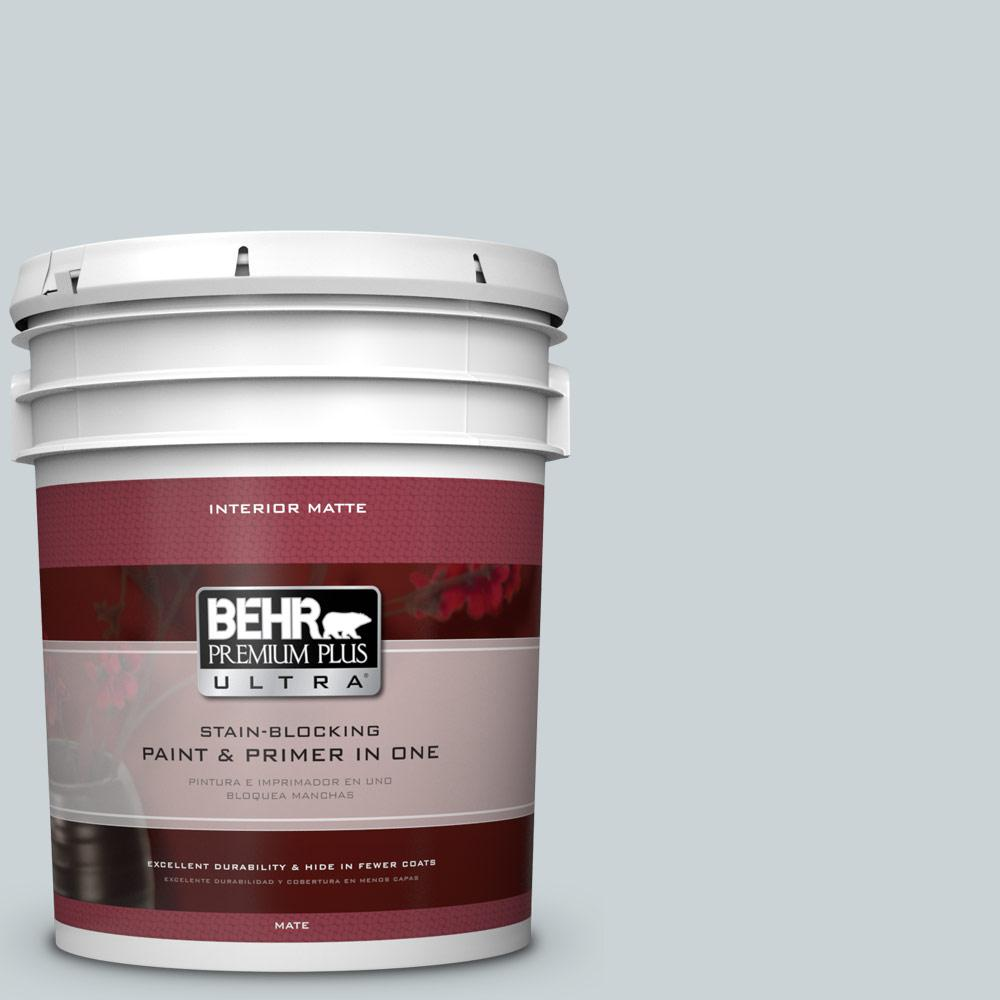BEHR Premium Plus Ultra 5 gal. #N490-1 Absolute Zero Matte Interior Paint