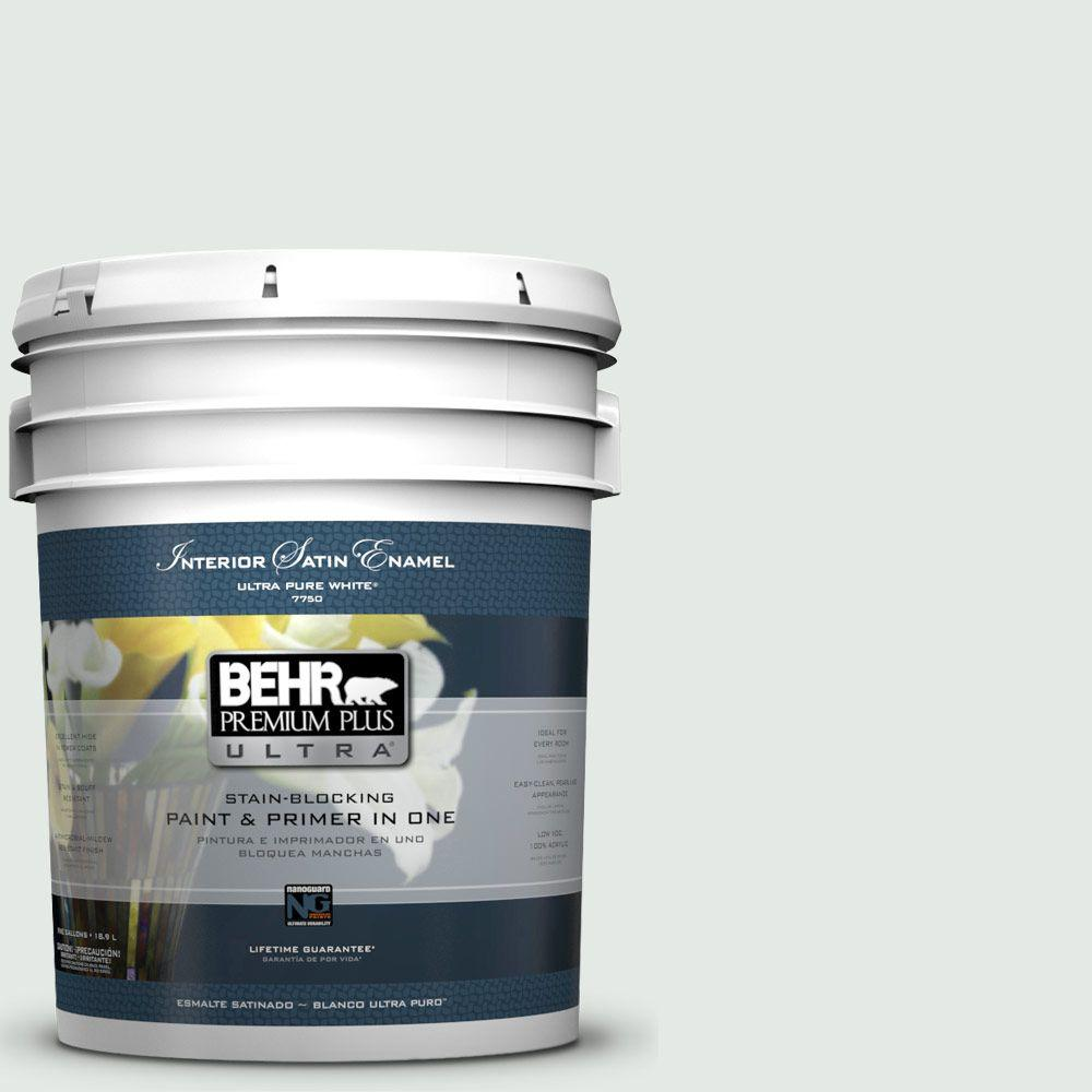 BEHR Premium Plus Ultra 5-gal. #BL-W7 Wind Chill Satin Enamel Interior Paint