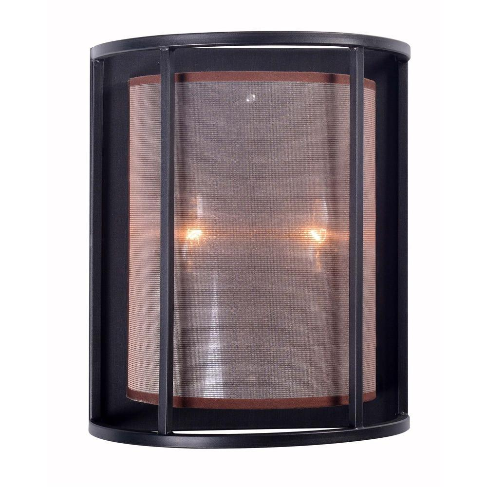 Indoor Wall Sconces Bronze : World Imports Aria Collection 2-Light Oil Rubbed Bronze Indoor Wall Sconce-WI 4352-88 - The Home ...