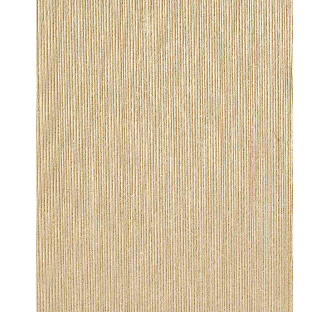 The Wallpaper Company 72 sq. ft. Oatmeal Textured Strings Wallpaper-DISCONTINUED