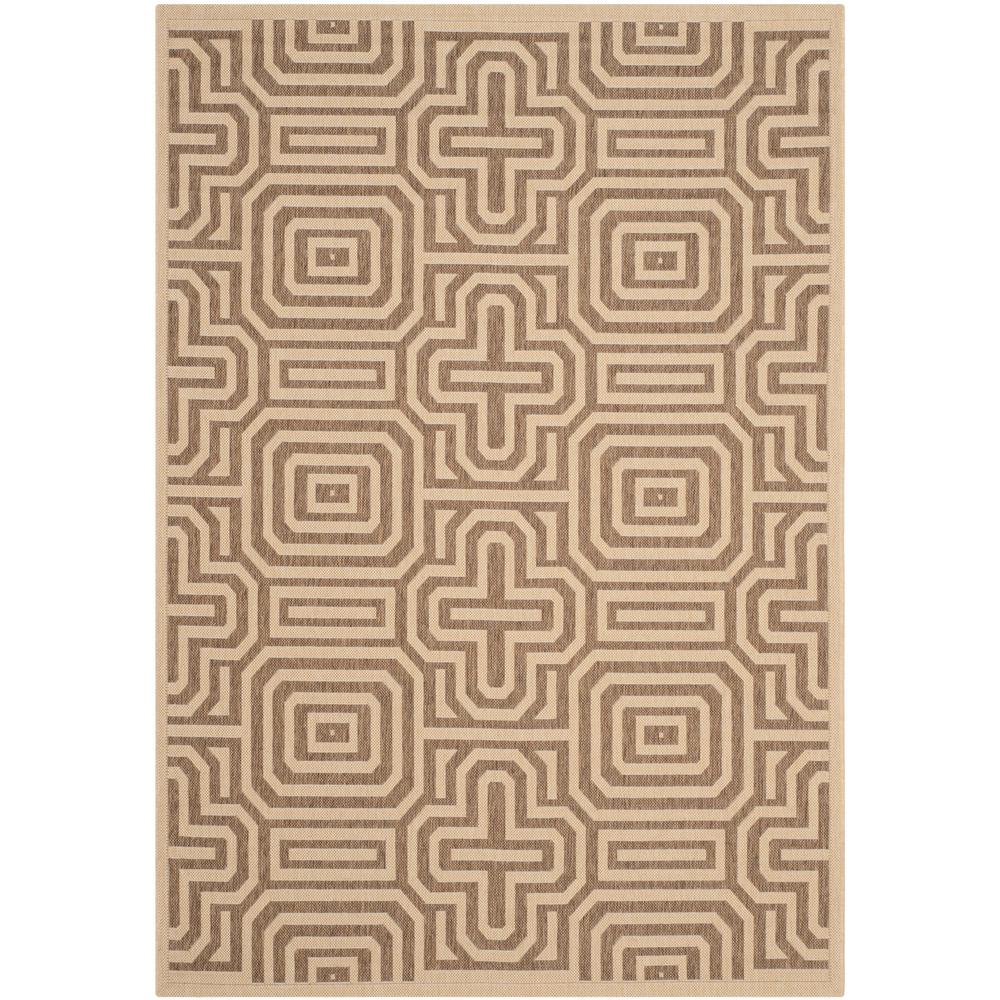 Safavieh Courtyard Natural/Brown 6 ft. 7 in. x 9 ft. 6
