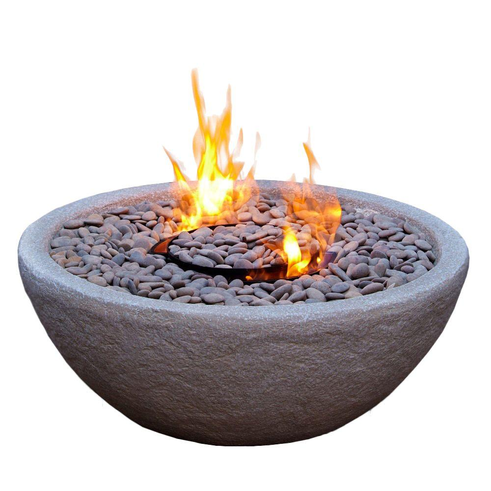 Real Flame Hampton 29 in. Gel Fuel Fire Bowl in Gray-DISCONTINUED