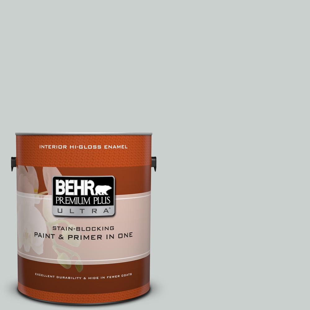 1 gal. #HDC-MD-06G Sparkling Silver Hi-Gloss Enamel Interior Paint