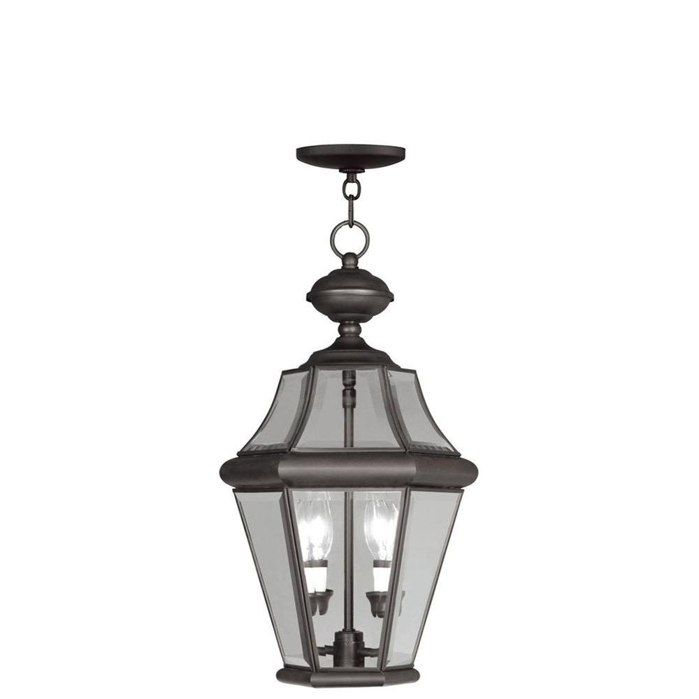 Providence 2 Light Outdoor Bronze Incandescent Pendant Light