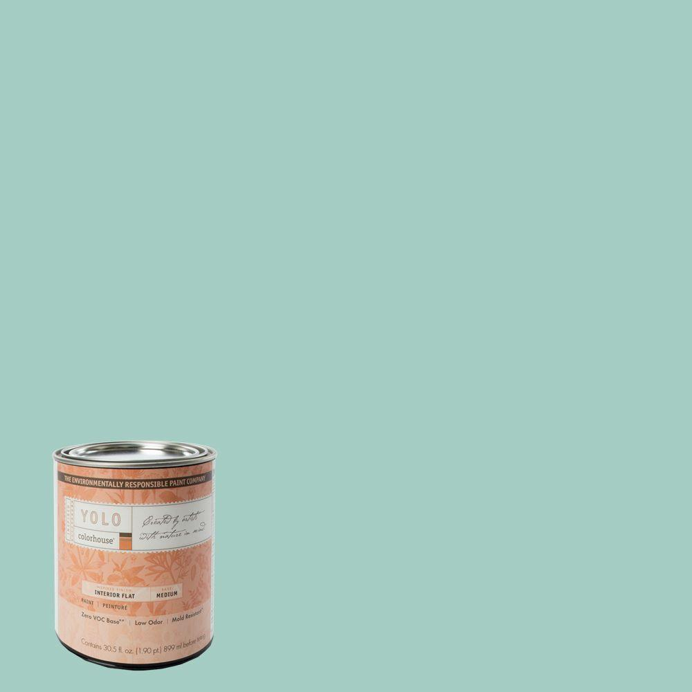 YOLO Colorhouse 1-Qt. Water .07 Flat Interior Paint-DISCONTINUED
